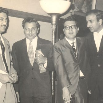 Ameen Sayani, the music director of WOH KAUN THI Madan Mohan, NNS and director RAJ KHOSLA